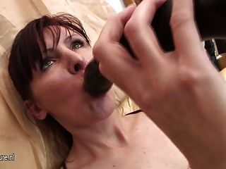 Hairy Mature Mom Playing And Swaying