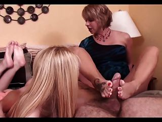 Ffm Footjob Threesome