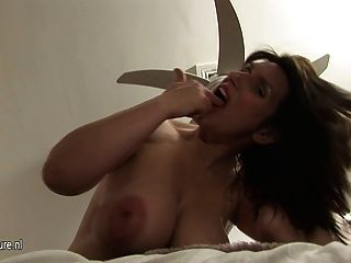 Busty Pregnant Mature Mom Gets Her Undies Wet