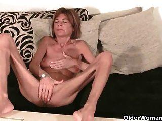 British Granny Finger Fucks Her Petite Pussy