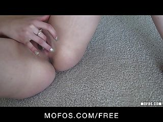 Sexy Petite Teen Brunette Slut In Pink Panties Finger-fucks