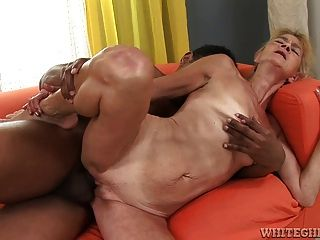 Granny Is Still Able To Take A Black Cock In Her Pussy