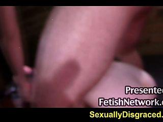 Giant Dildo And Big Cock Ramming Bound Slave Sheena Rose