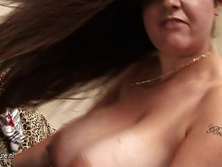 Big Titted Amateur Housewife Rocking Her Tits