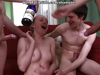 Hard Group Sex With A Young Girl