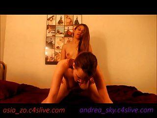 Asia Zo Fucks Andrea Sky