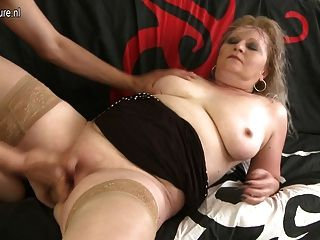 Real Grandmother Doing Her Younger Lover