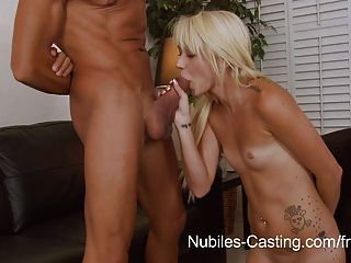 Nubiles Casting -can Her Tight Teen Pussy Take His Huge Cock