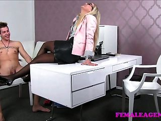 Femaleagent Milf Lets Stud Cum In Her Mouth