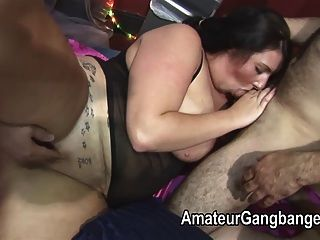 Bbw And Smaller Plumper Fucked By A Group Of Guys