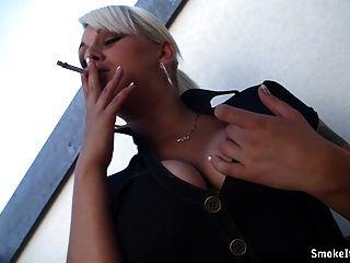 Sensual Balcony Smoking