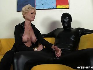 image Two senior single dikes warm up before a black cock joins th Part 5