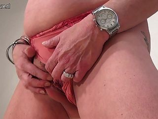 Old Slutty Granny Playing With Her Toy