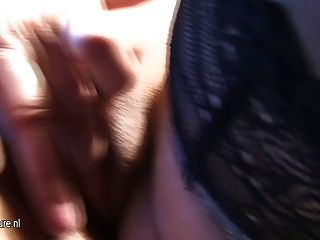Amateur Mom-next-door Plays With Her Toys