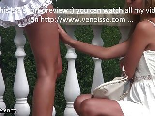 Veneisse Walk Outdoor Without Panties Lesbian Double Fisting