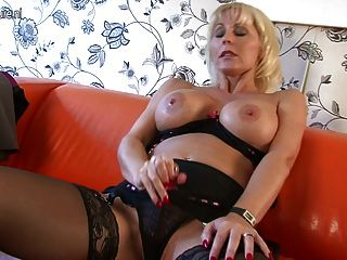 Gorgeous Busty Cougar Mom On Casting Couch