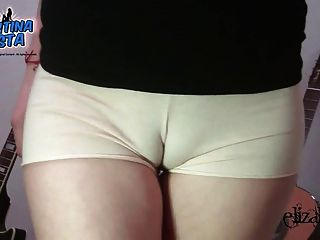 AMELIA: Sexy teen in panties shows her camel toe tmb