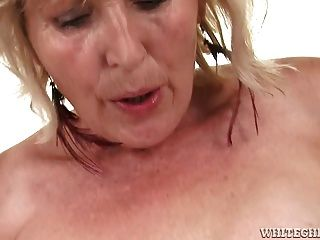 Old Granny Is Still Good At Getting Cock Deep In Her