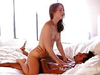 Tight Teen Pussy Stroking Hard Cock