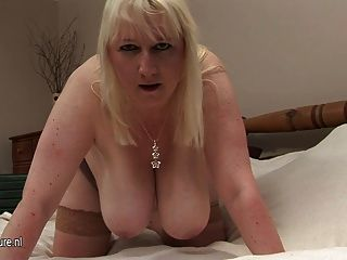 Big Breasted Mature Mom Going Wild