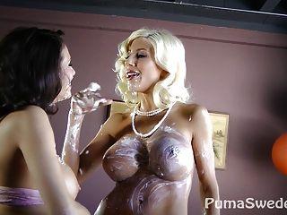 Sweet Pussy Pie?! Puma Swede & Veronica Avluv!