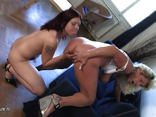 Horny Housewife Playing With A Hot Teen Daughter