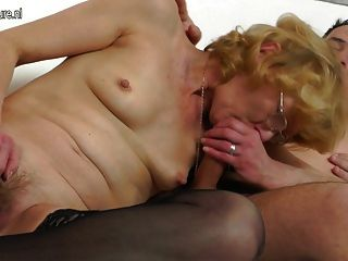 Old Granny Fucked By Young Male Model