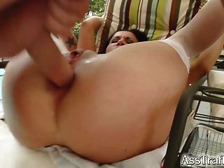 Clarrisa Has Ass Taming And Cum Facial Poolside