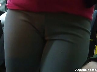 Flashing Boobs, Deep Cameltoe, Big Ass, In The Streets