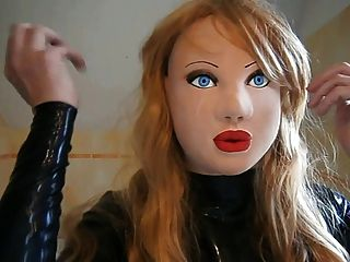 Masked Latex Doll With Blond Wig