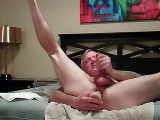 Hungry Butt Hole Enjoys Self Cum Drenched Dildo