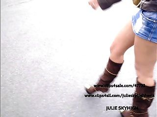 Voyeur: Sexy Girl In Public Shop In Sexyboots & Miniskirt