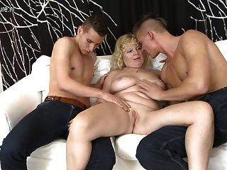 Real Mature Mom Sucks And Fucks Two Guys
