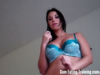 Cei Cum Eating Jerk Off