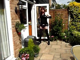 Alison Thighbootboy Wanking In The Garden