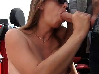 Pregnant Wife Suck Outside Car