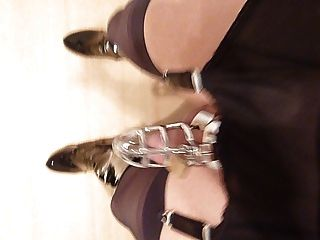 Nylon Garderbelt Walk With Cage And Ballstrecher