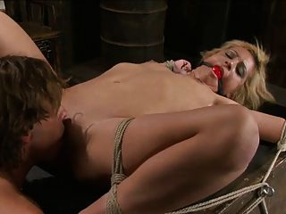 Blond Bound And Fucked 2 Of 2