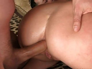 Pretty Blonde Stuffed With Three Dicks And Covered In Cum