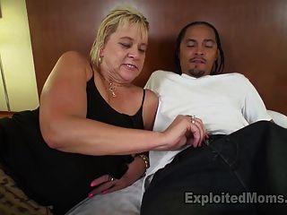 Slutty Blonde Grandma Gets Turned On By Dirty Talk
