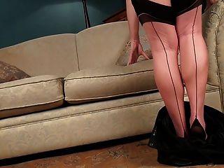 Abi Toyne Black Seamed Stockings
