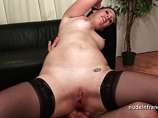 Amateur Casting Of A Brunette Hard Dp