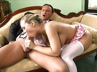 Fucks Mia Leone In White Pantyhose