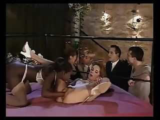 Black Girl Fist Blond Afthert Hat Some Anal Fucking