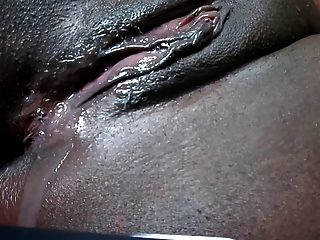 Black Pussy Dripping After Cumshot