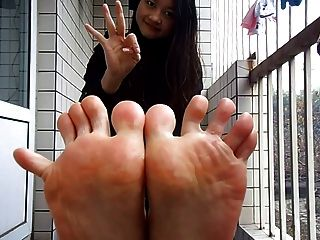 Self Filming Asian Soles