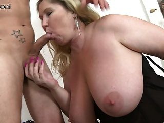Huge Breasted Bbw Fucking And Sucking Her Boy