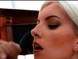 Beautiful Blonde Huge Facial