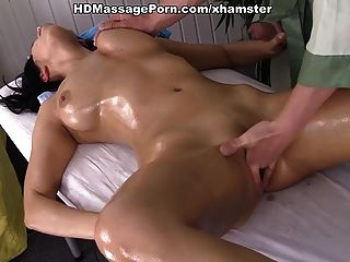Man Oiling, Massaging And Fucking Busty Girl Kira