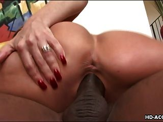 Impeccale Brunette Loves Being Drilled With A Bbc